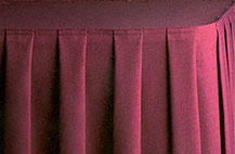 Box pleat table skirt